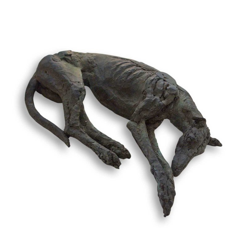 Feet to the Fore - greyhound sculpture