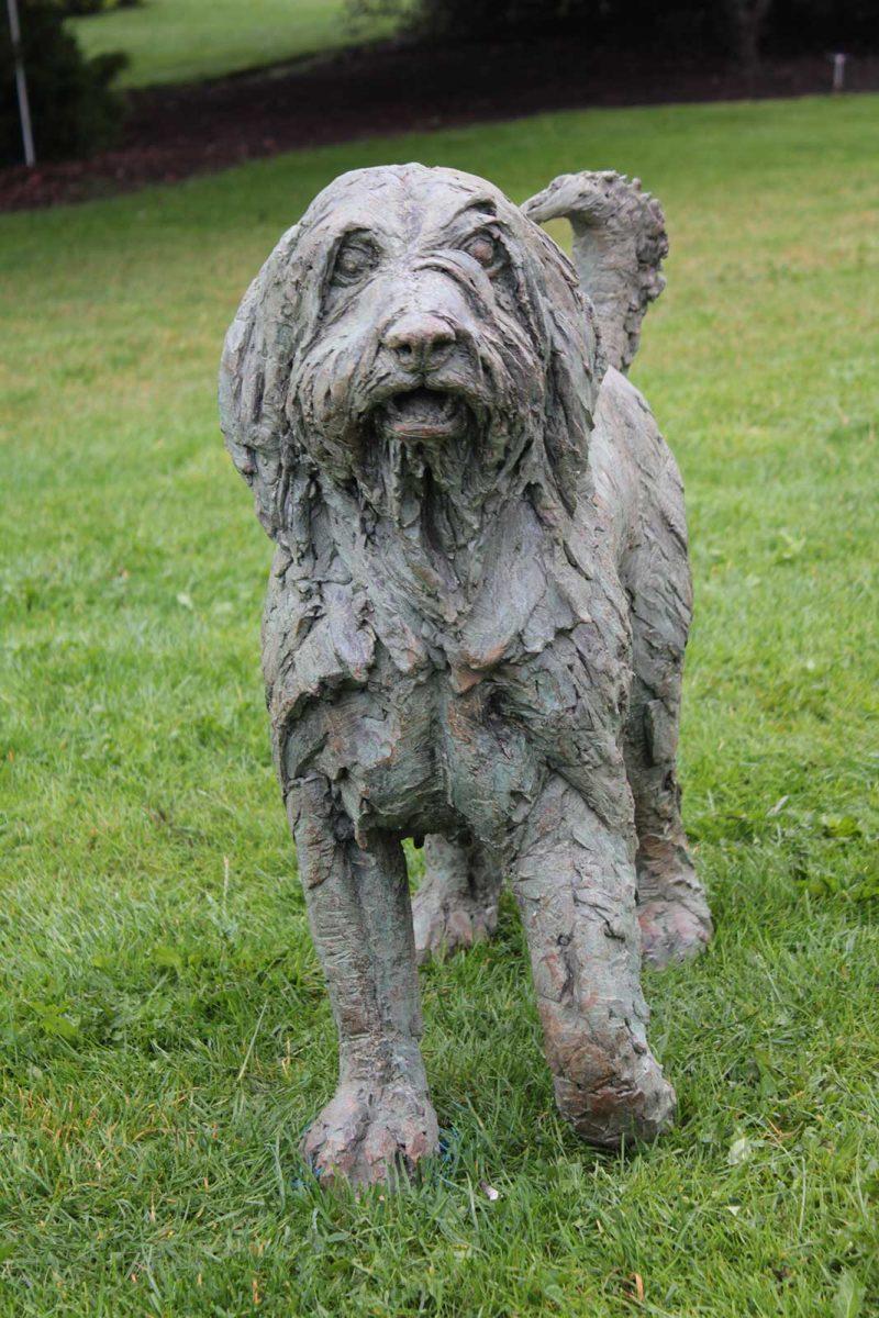 Shaggy Dog Story - Bearded Collie sculpture